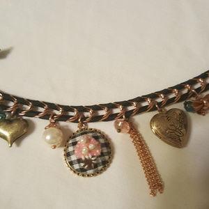 Women's Betsey Johnson link chain charm bracelet
